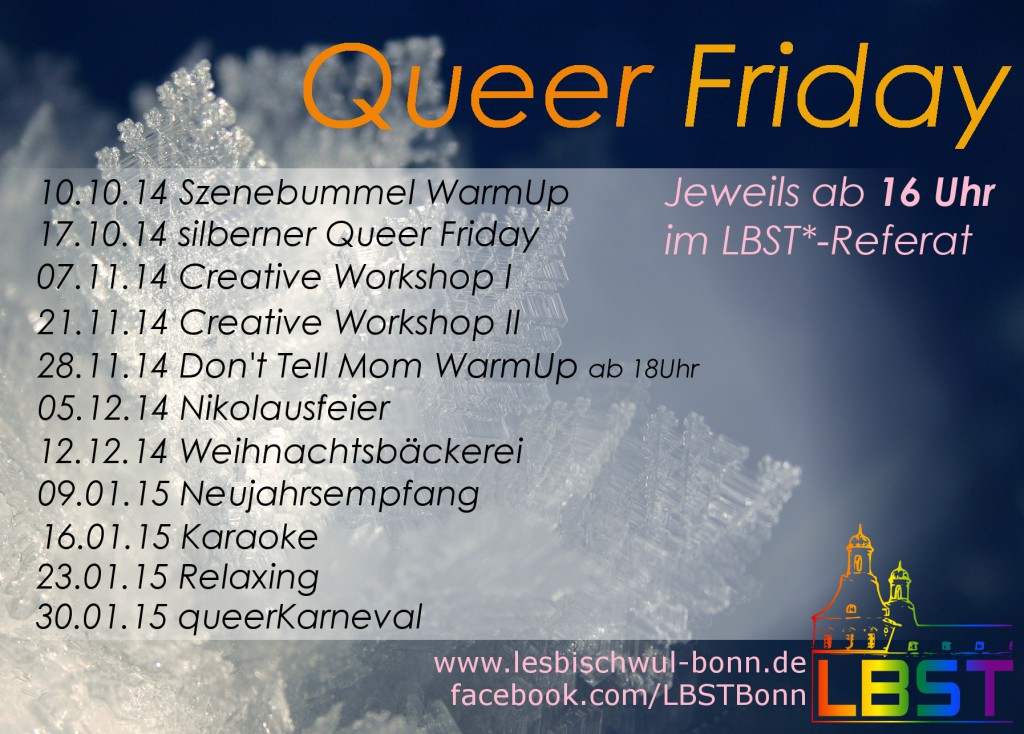QueerFriday Flyer WS14-15