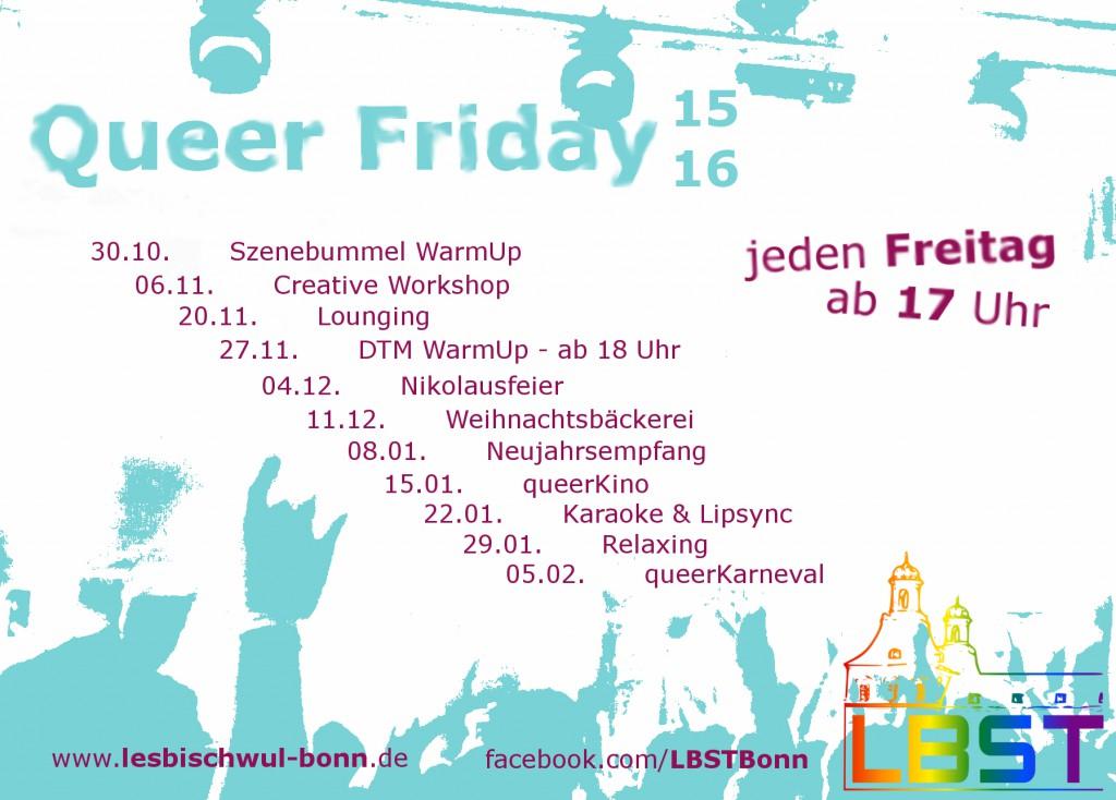 QueerFriday Flyer WS1516